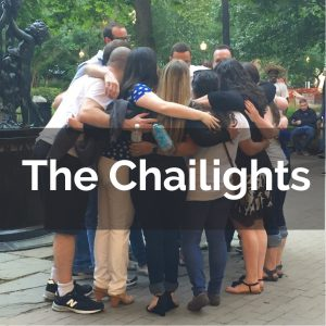 Huddle of young people in a capella group