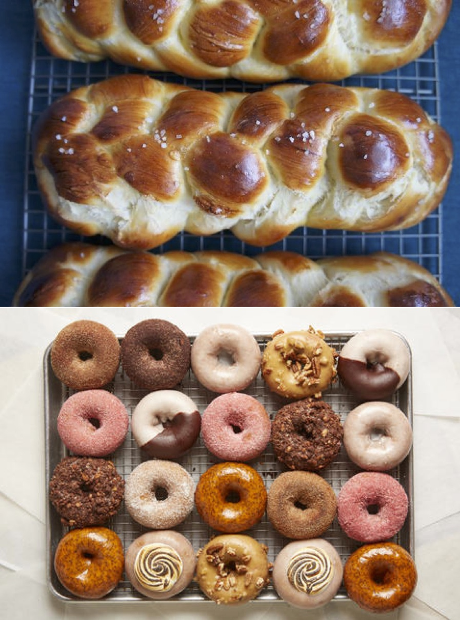 challah and donuts