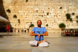 Michael Alan Sara doing yoga