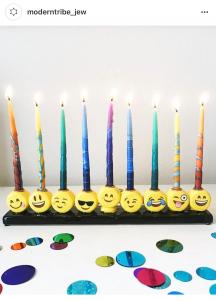 Emoji menorah from The Modern Tribe