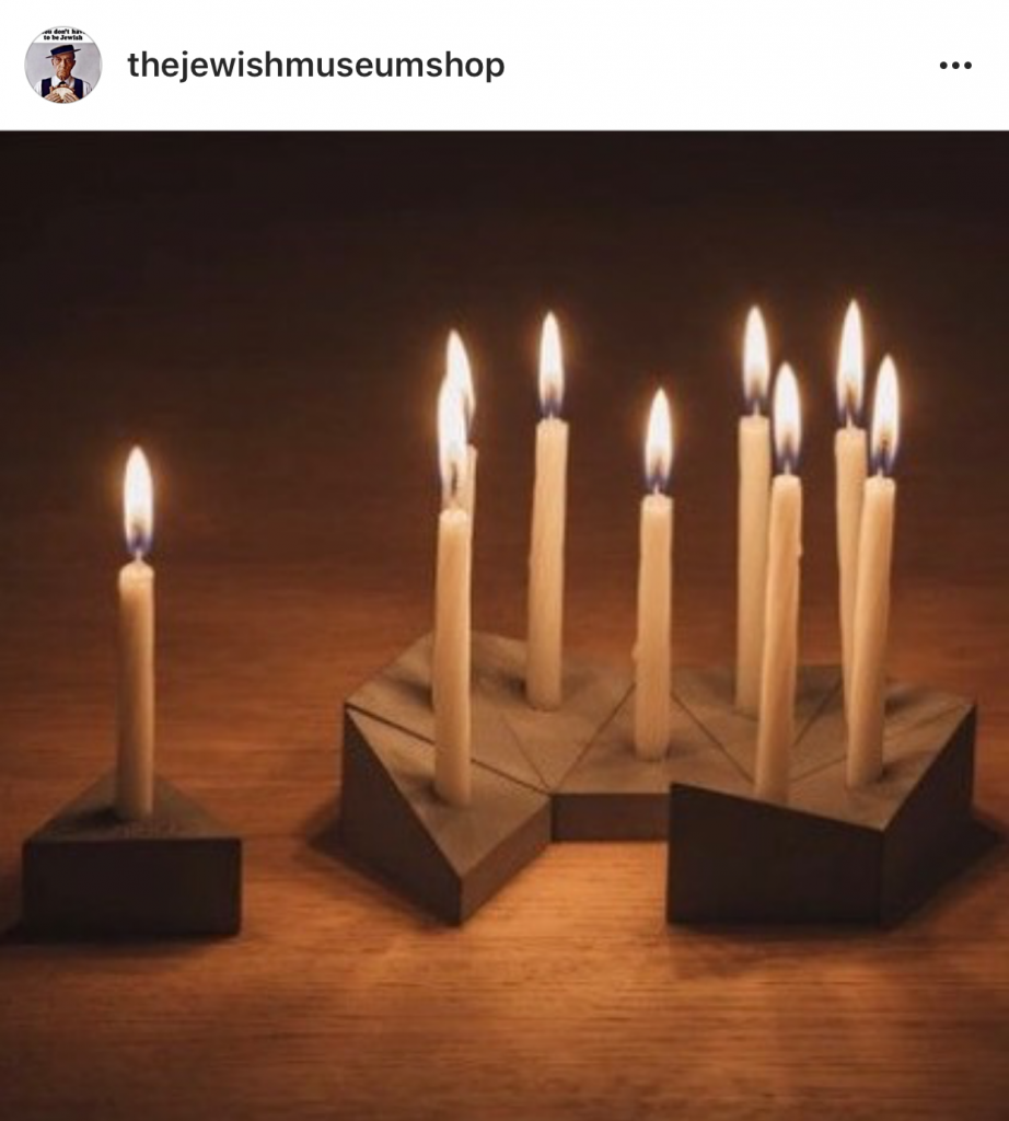Puzzle menorah that can be assembled in various ways