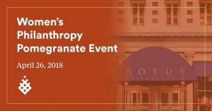 Women's philanthropy pomegranate event