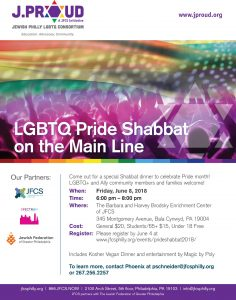 LGBTQ Pride Shabbat hosted by J.Proud Consotrium