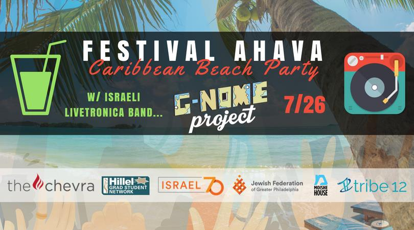 Festival Ahava island themed graphic