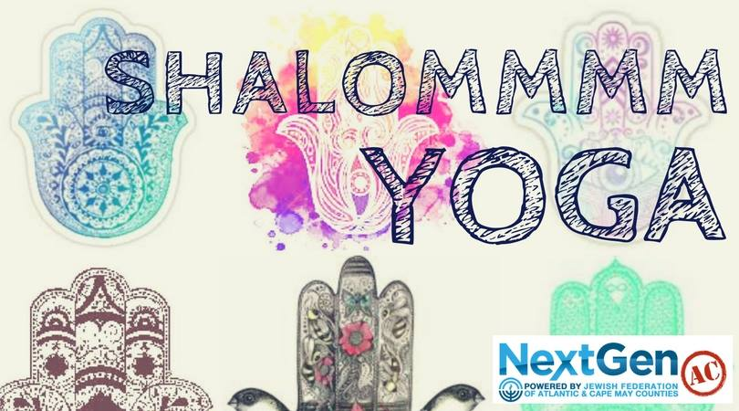 "Hamsa images overlaid with the words ""Shalommm Yoga"""