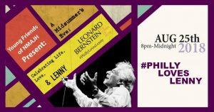 Leonard Bernstein poster that says #Phillyloveslenny
