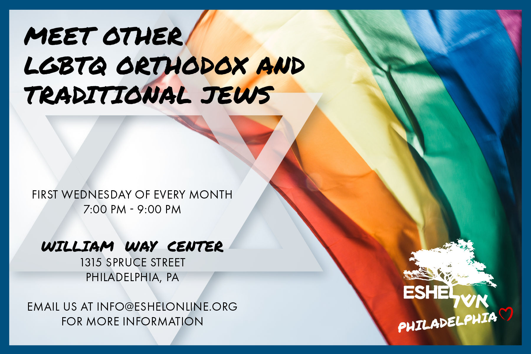 LGBTQ Flag Israeli Star