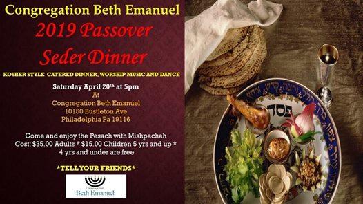 Passover dinner philadelphia 2019