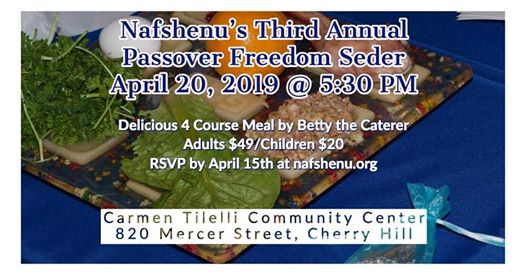 Nafshenu's Third Annual Freedom Seder