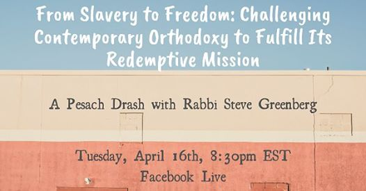 Livestream Event with Rabbi Steve Greenberg
