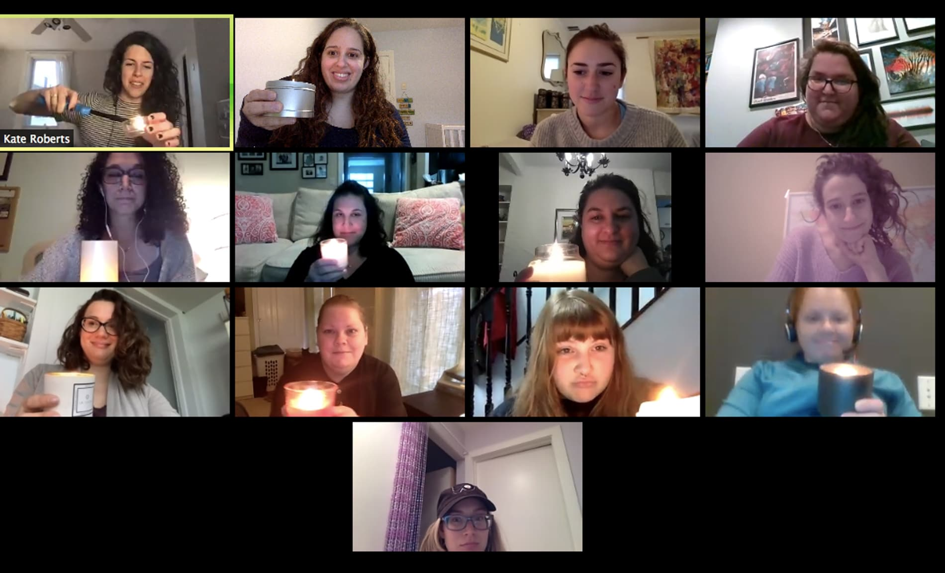 Tribe 12 Repair The World's monthly Womxn's Moon Circle goes virtual - ritual candle lighting to honor our ancestor